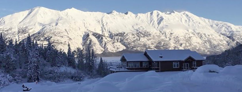 Knik River Lodge in winter