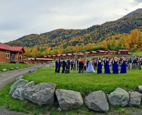 Wedding Ceremony at Knik River Lodge